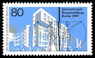 Berlin Briefmarke 1987 Internationale Bauaustellung MiNr. 785