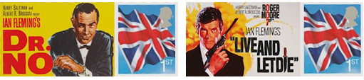 James-Bond-Filmplakate auf Briefmarken 2012