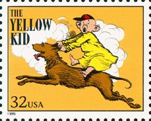 """The Yellow Kid"" auf einer Briefmarke aus den USA 1995"