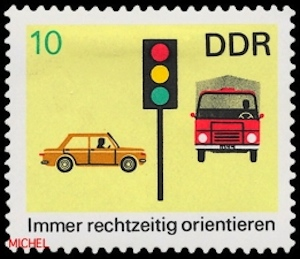Verkehrsicherheit-Briefmarke-DDR