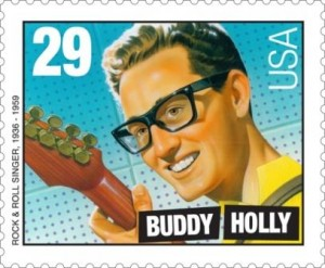 Buddy Holly auf Briefmarke aus den USA