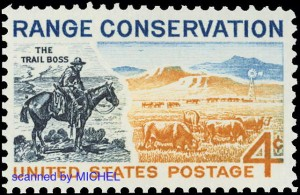 Charles Marion Russell postage stamp USA 1961