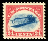 Die Briefmarke Inverted Jenny wurde in New York für 575.000 UD-Dollar versteigert.
