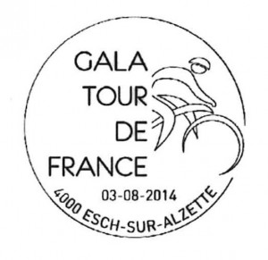 luxemburgischer Sonderstempel zur Gala Tour de France am 03. August 2014