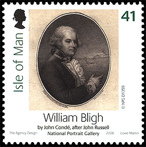 William Bligh auf Briefmarke der Insel Man