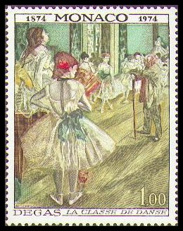 Edgar Degas-Briefmarke