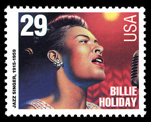 Billie Holiday auf Briefmarke der USA