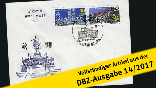 Messe-Briefmarken in der DDR