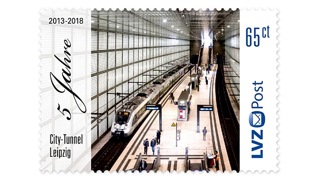 City-Tunnel Leipzig bekommt Briefmarke